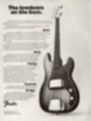 Fender Precision 1972 Ad