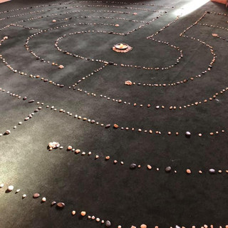 Meditation labyrinth in the chapel