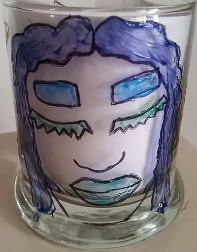 Hand Painted Glass Votive (Small)