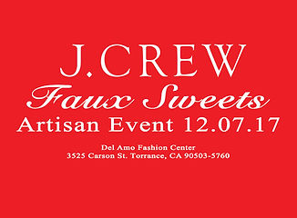 j.crew Jcrew artisan event holiday christams craft event faux sweet mae hirota fake cupcakes cakes food del amo fashion cener craft show fair
