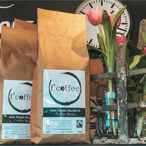 Fairtrade f'coffee Beans 1kg