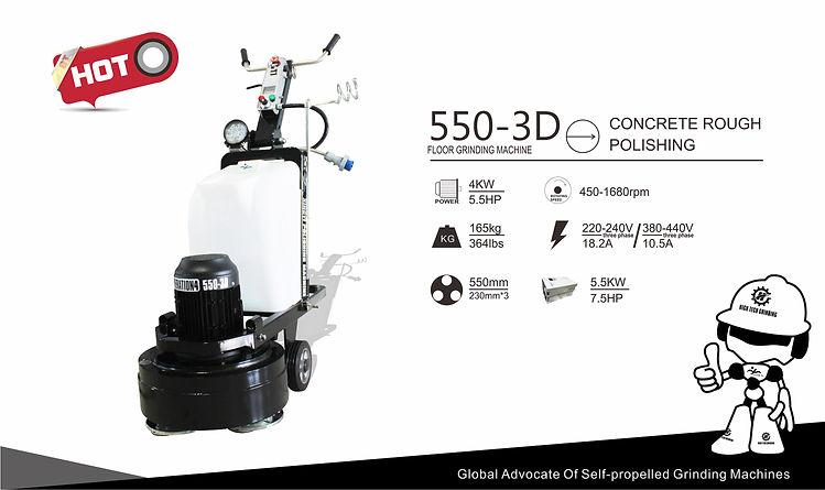 Three head floor grinding machine 550 3D