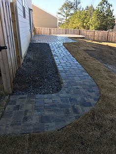 stone porch and walkway after 2 augusta