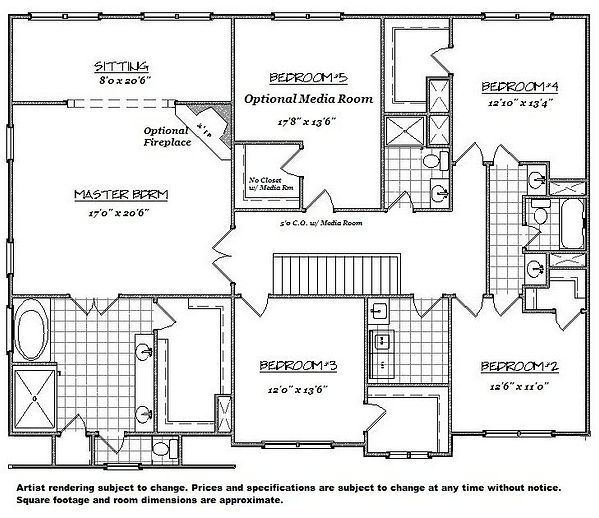 Amy 2nd Floor home builder augusta ga at
