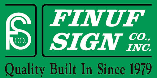 Finuf Logo with Green Background and Slo