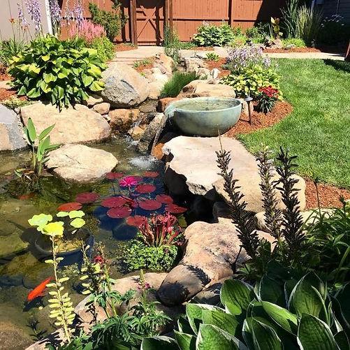 backyard pond water feature augusta ga a