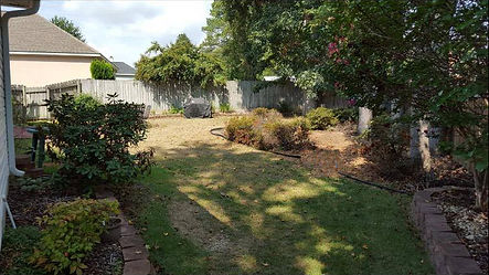 before residential yard drainage problem