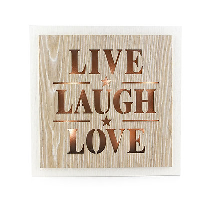 Live Laugh Love - LED Light Wall Art