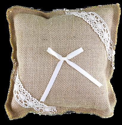 Rustic Charm Hessian Ring Bearer Pillow