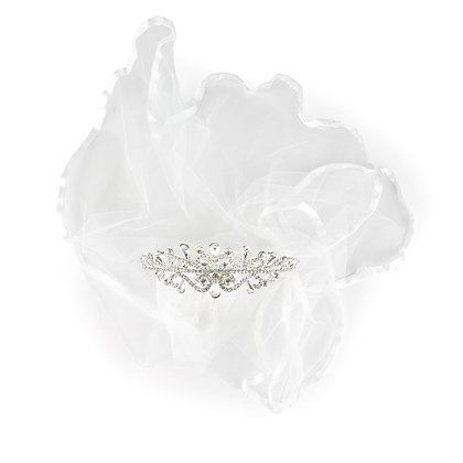 Sparkly Tiara with Attached Veil