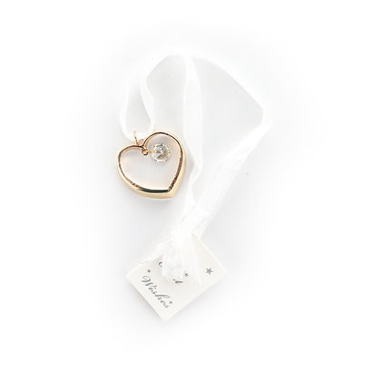 Gold Heart Bridal Charm