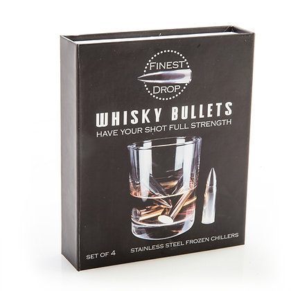 Whisky Bullets Reusable Ice Cubes