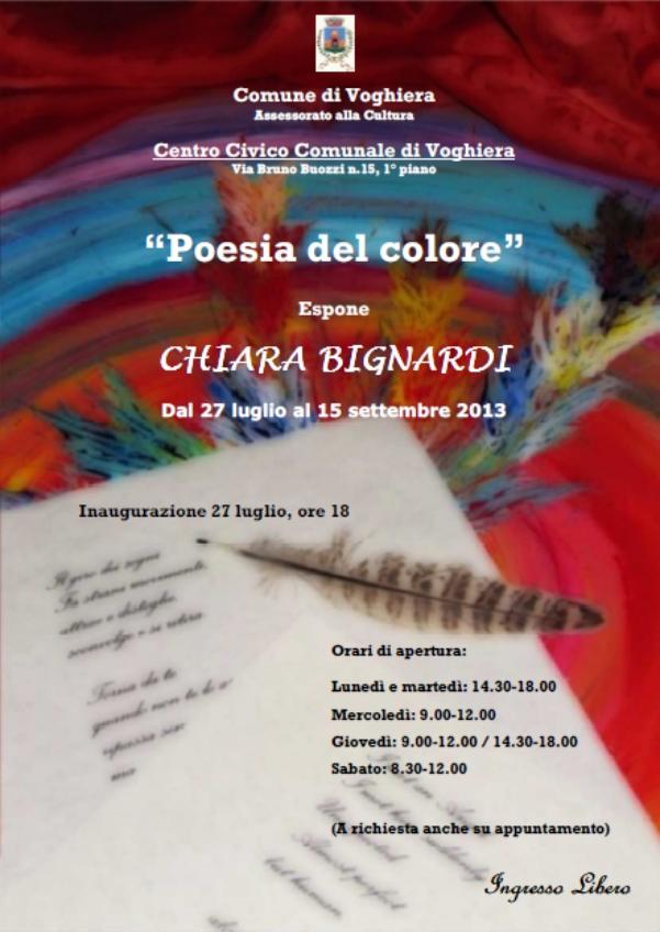 Poesia del colore locandina