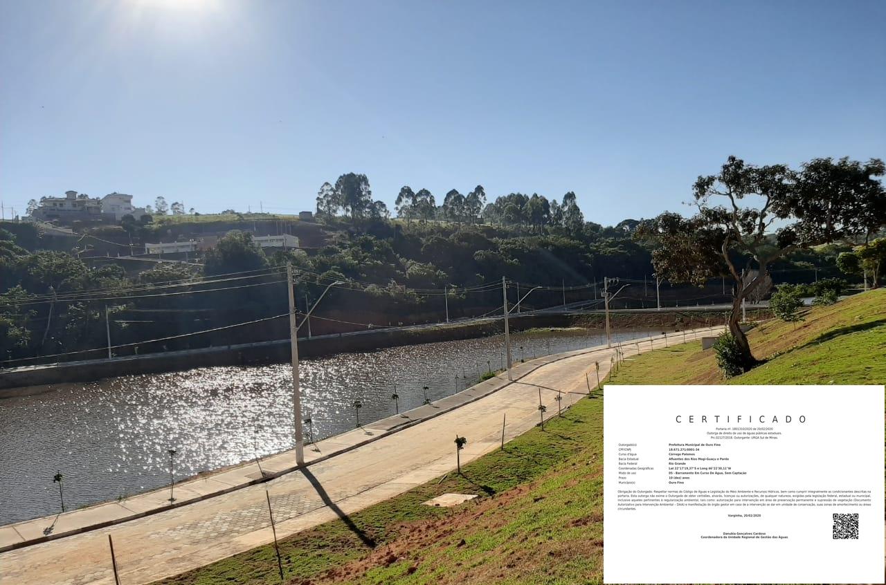 Aprovação: Outorga do 4º Lago dos Palomos (Ouro Fino - MG)