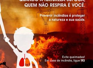 Governo de Minas lança campanha de prevenção a incêndios florestais.