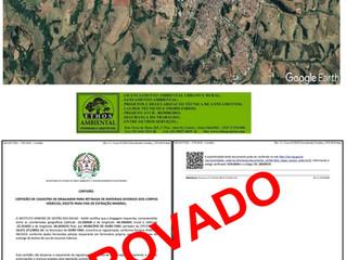 Emissão de Certidão para retirada de materiais do Ribeirão Ouro Fino