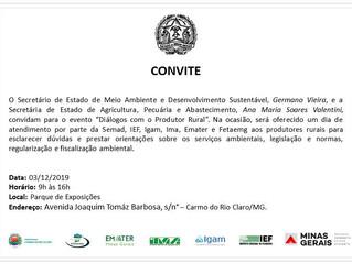Repassamos o convite em nome da Secretaria do Meio Ambiente e Desenvolvimento Sustentável.