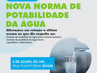 WEBINAR: Nova Norma de Potabilidade da Água