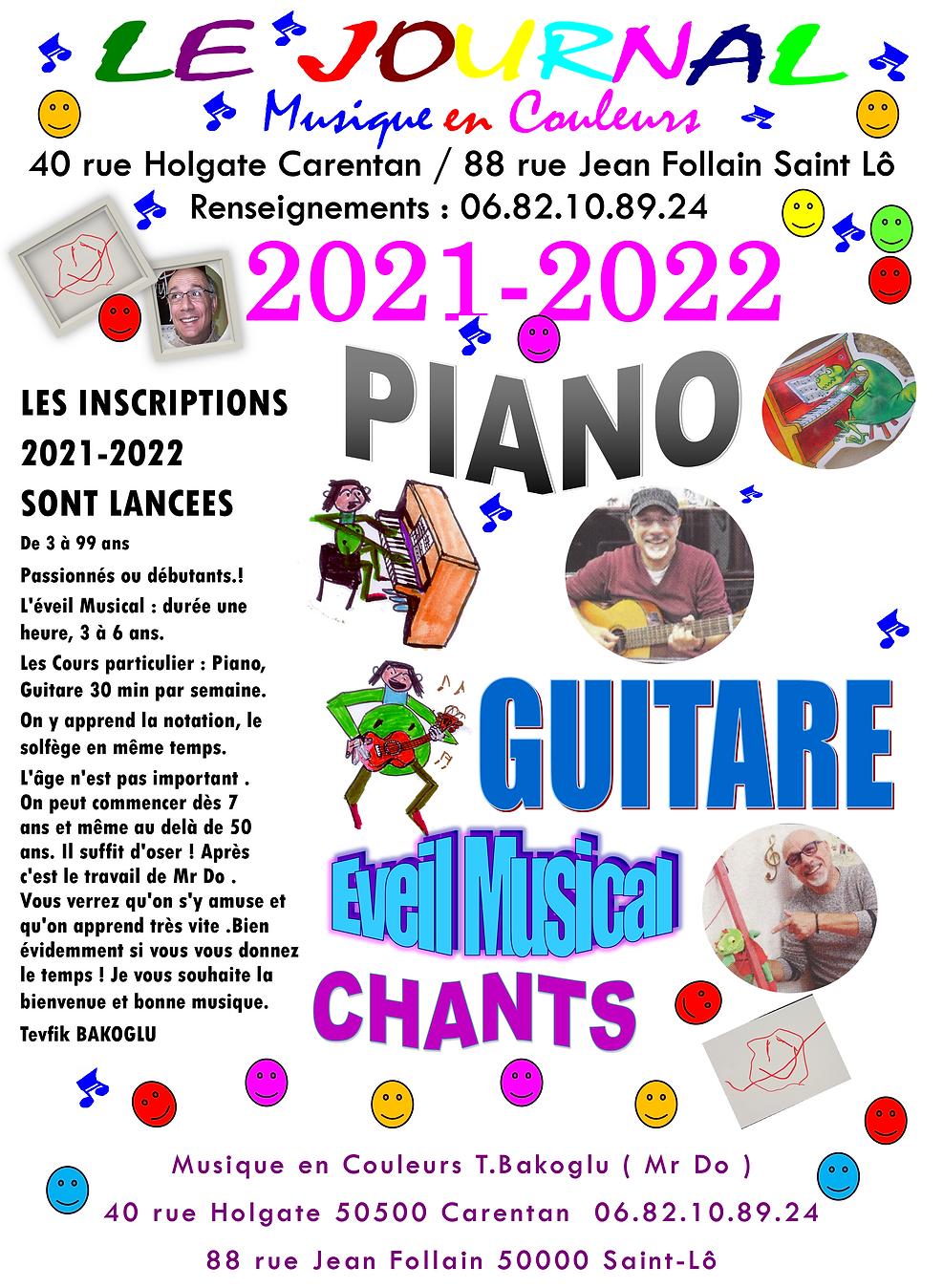 JOURNAL INSCRIPTIONS 2021-2022 ST LO CAR