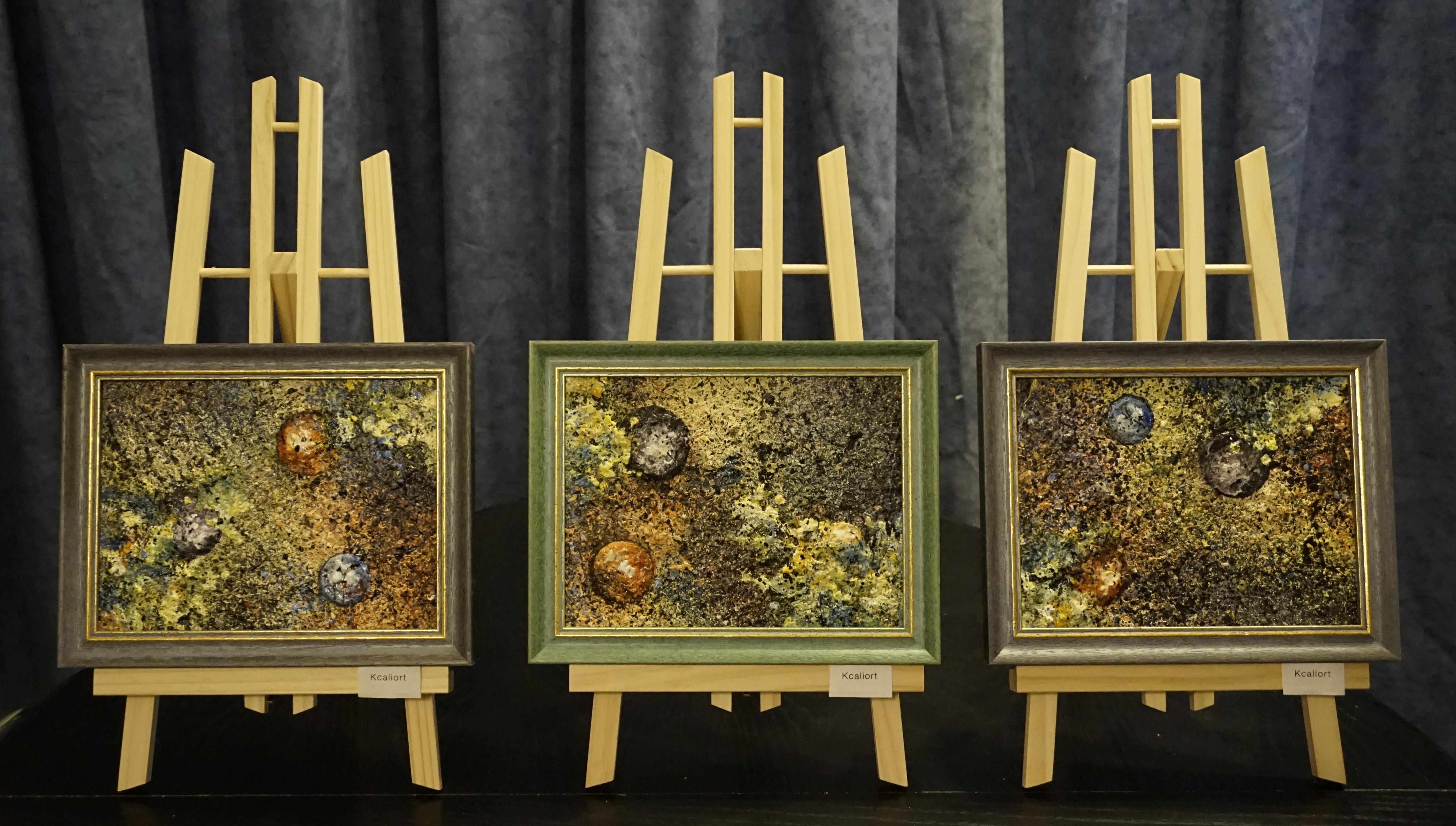 Paintings: Planeten I, II & III