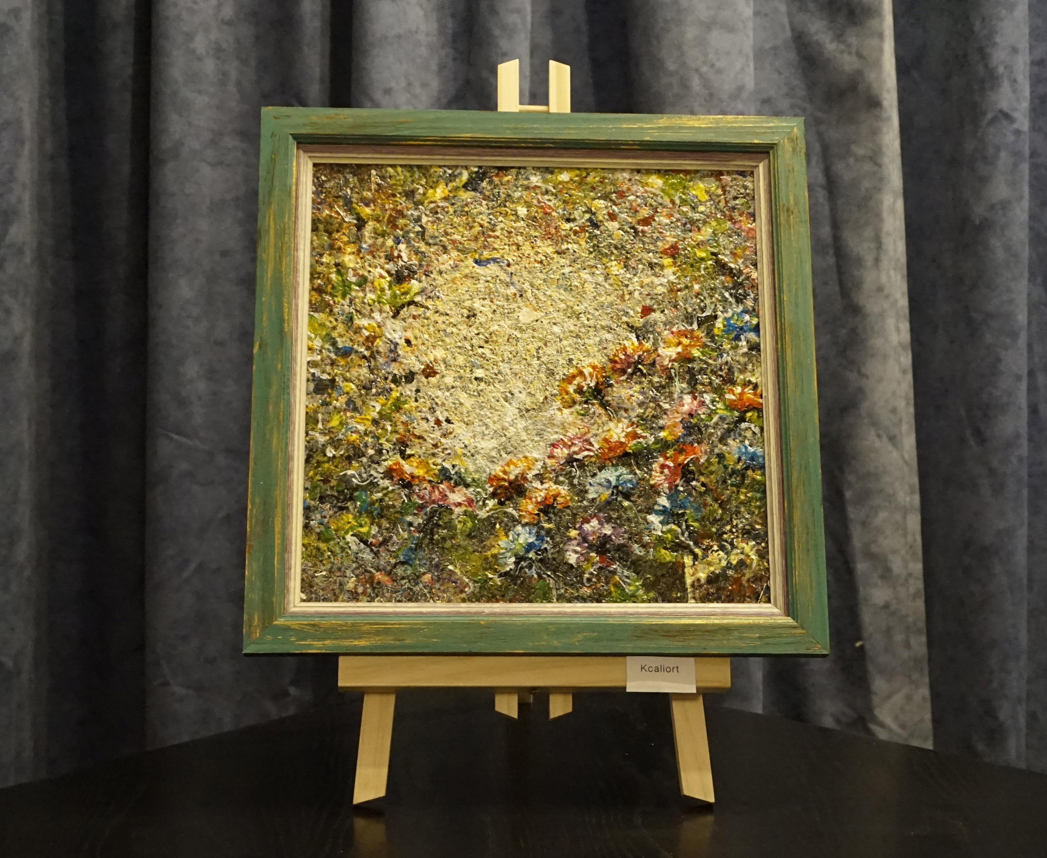 """Painting """"Bouquet rive droite"""""""