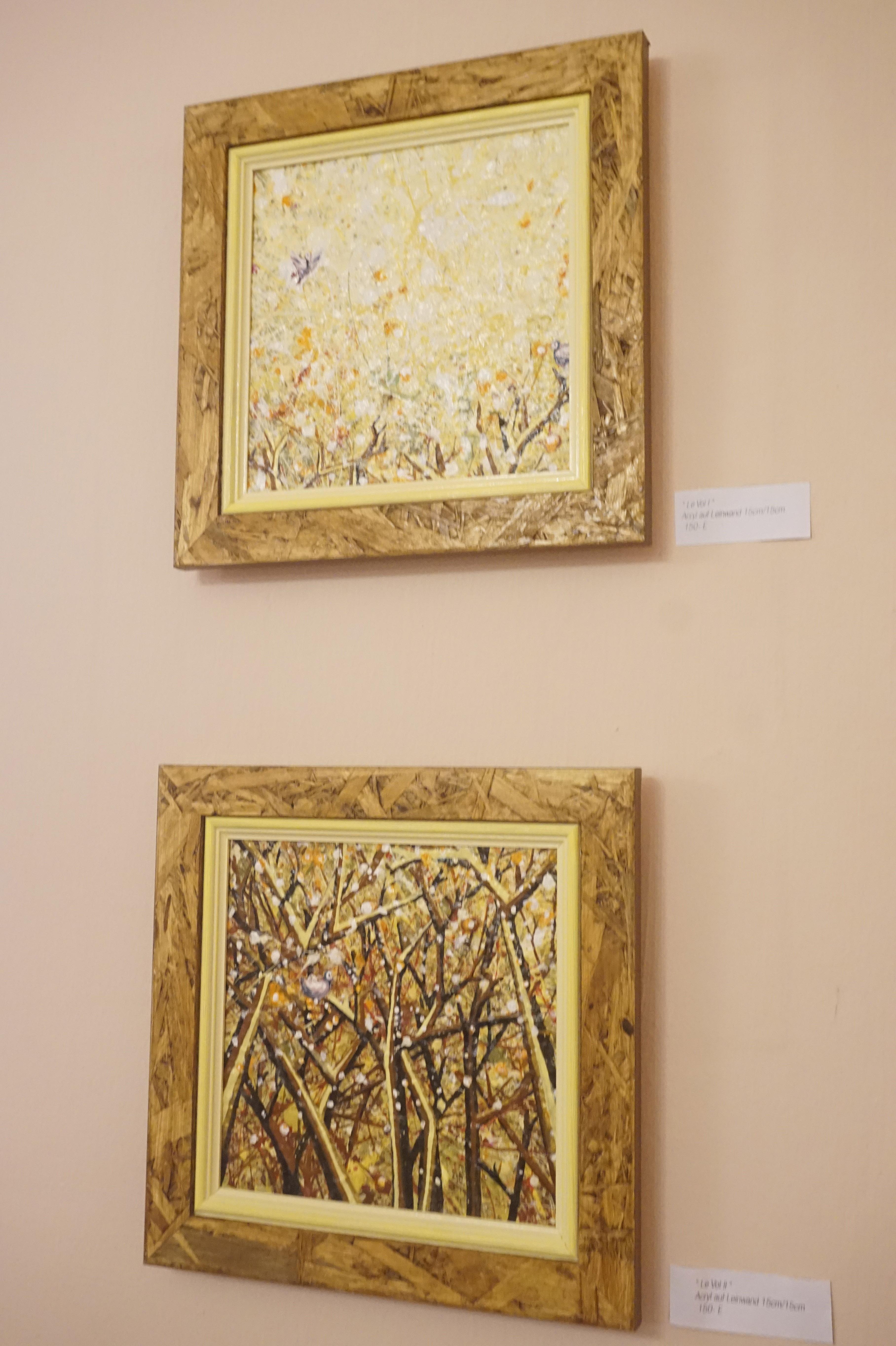 """Paintings """"Le vol"""" I & II"""