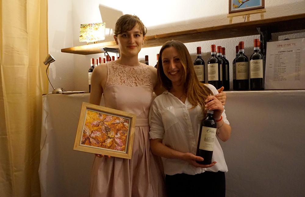 Tania from Vini d'arte & Kalina Gradeva