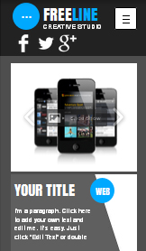 Tecnología y Apps website templates – Estudio web