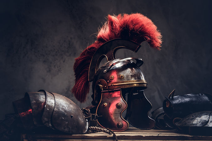 Complete combat equipment of the ancient