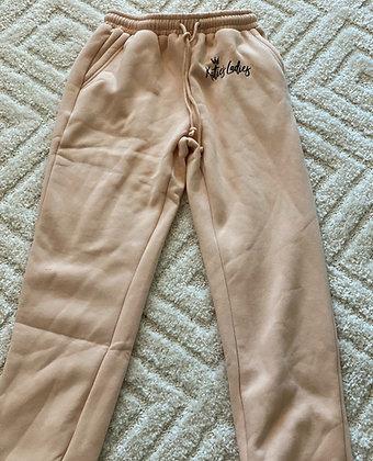 High Waisted Sweatpants-Khaki
