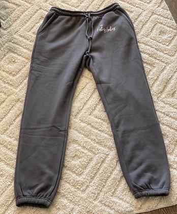 High Waisted Sweatpants-Gray