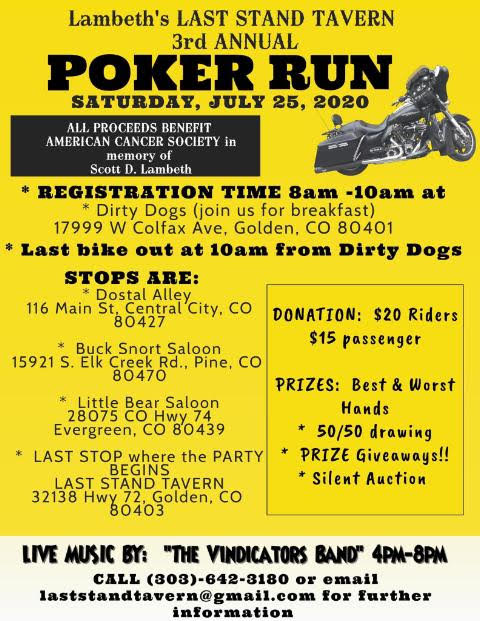 Poker Run - July 25th