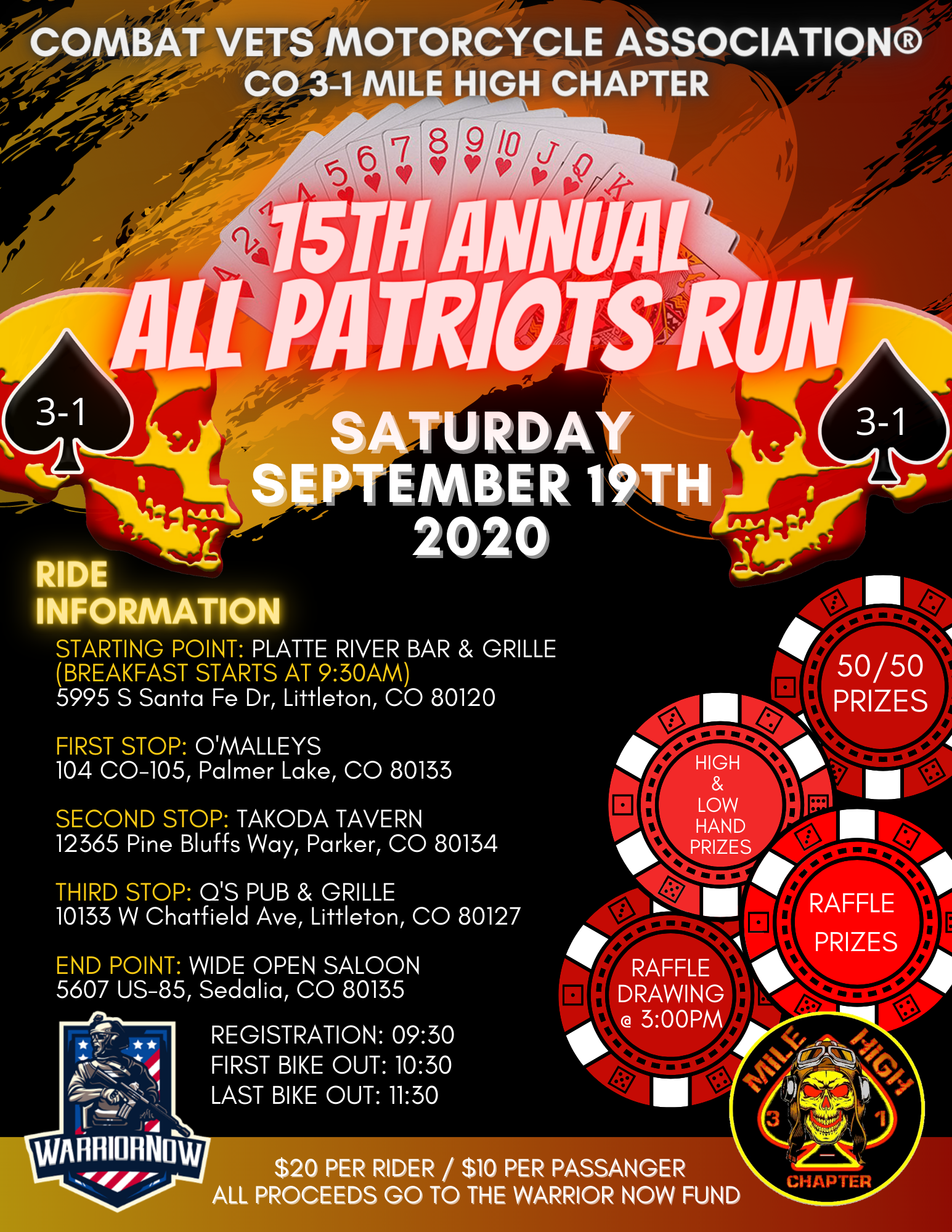 CVMA All Patriots Run 2020