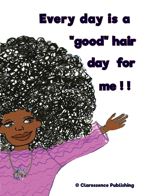 """Good Hair Day"" Magnet"
