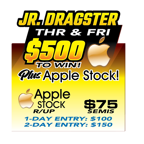 Junior Dragster Weekend Entry Fee  August 19 & 20