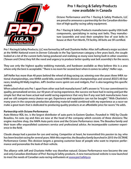 Pro1Safety.ca announce partnership with