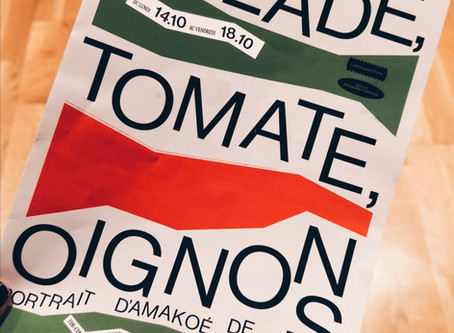 Salade, tomate, oignons.