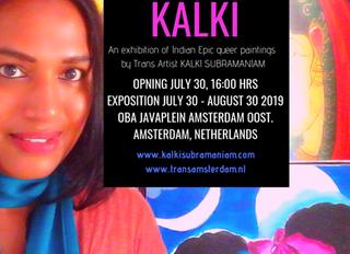 Opening kunstexpositie Indiase transgender activiste Kalki Subramaniam