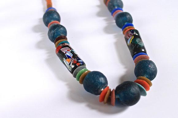 Ghana Glass Bead Necklace