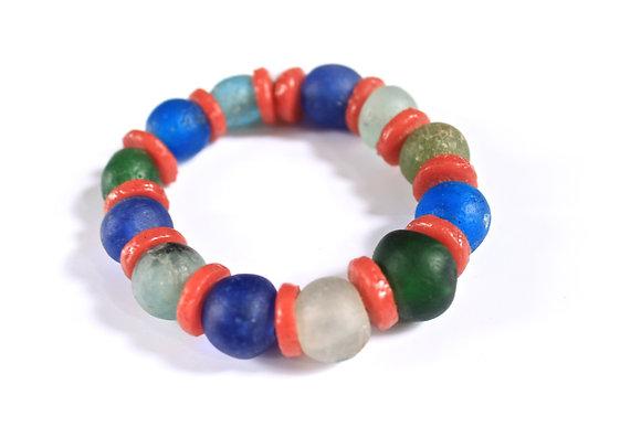 Ghana Glass Bead Bracelet