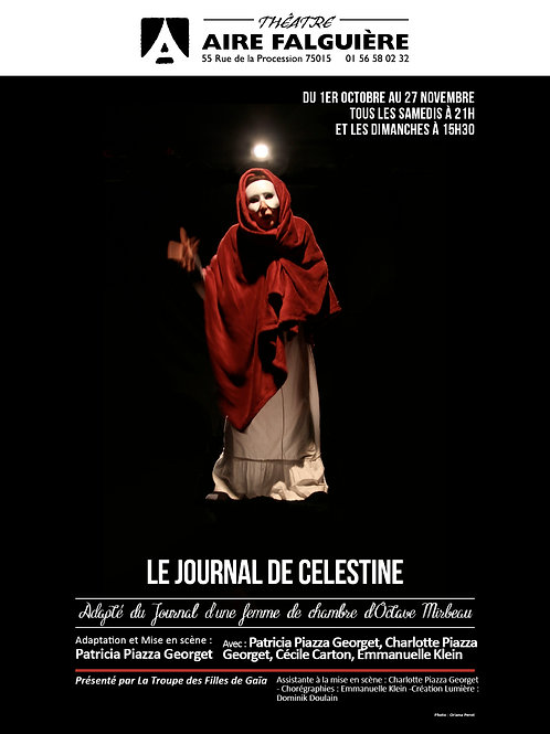 Le journal de Célestine - 1er oct - 27 nov: samedis 21h, dimanches 15h30
