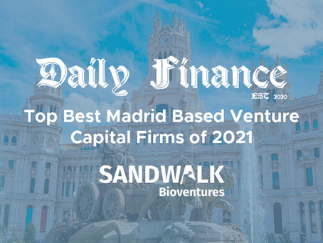 Sandwalk ranked as one of the 31 Best Madrid-Based Venture Capital Firms 2021 by Daily Finance