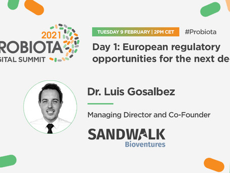 Sandwalk's Managing Director confirmed as Keynote Speaker at Probiota 2021