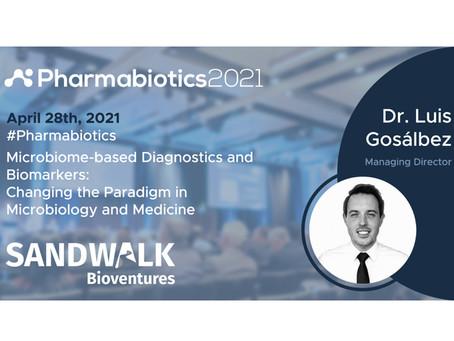 Sandwalk to sponsor and join the Pharmabiotics Event, April 28-29, 2021