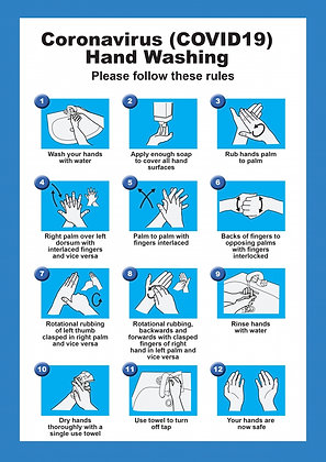 Covid-19 Hand Washing Poster A4
