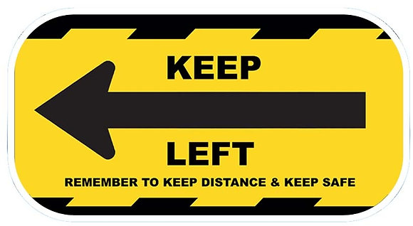 Keep Left Sticker