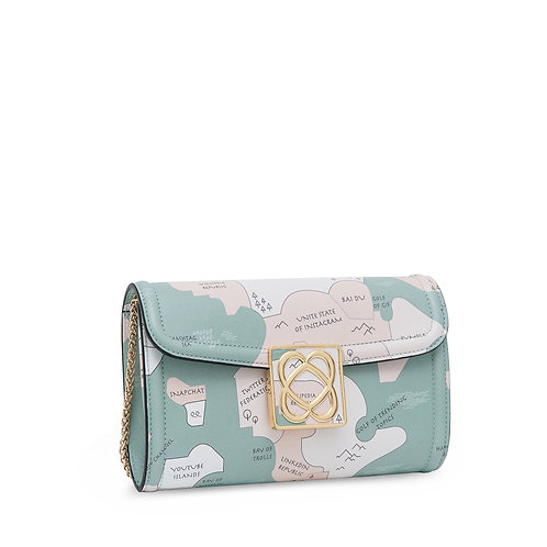 LOVE BAG clutch with chain