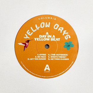 Yellow Days - A Day In A Yellow Beat. Vinyl Label