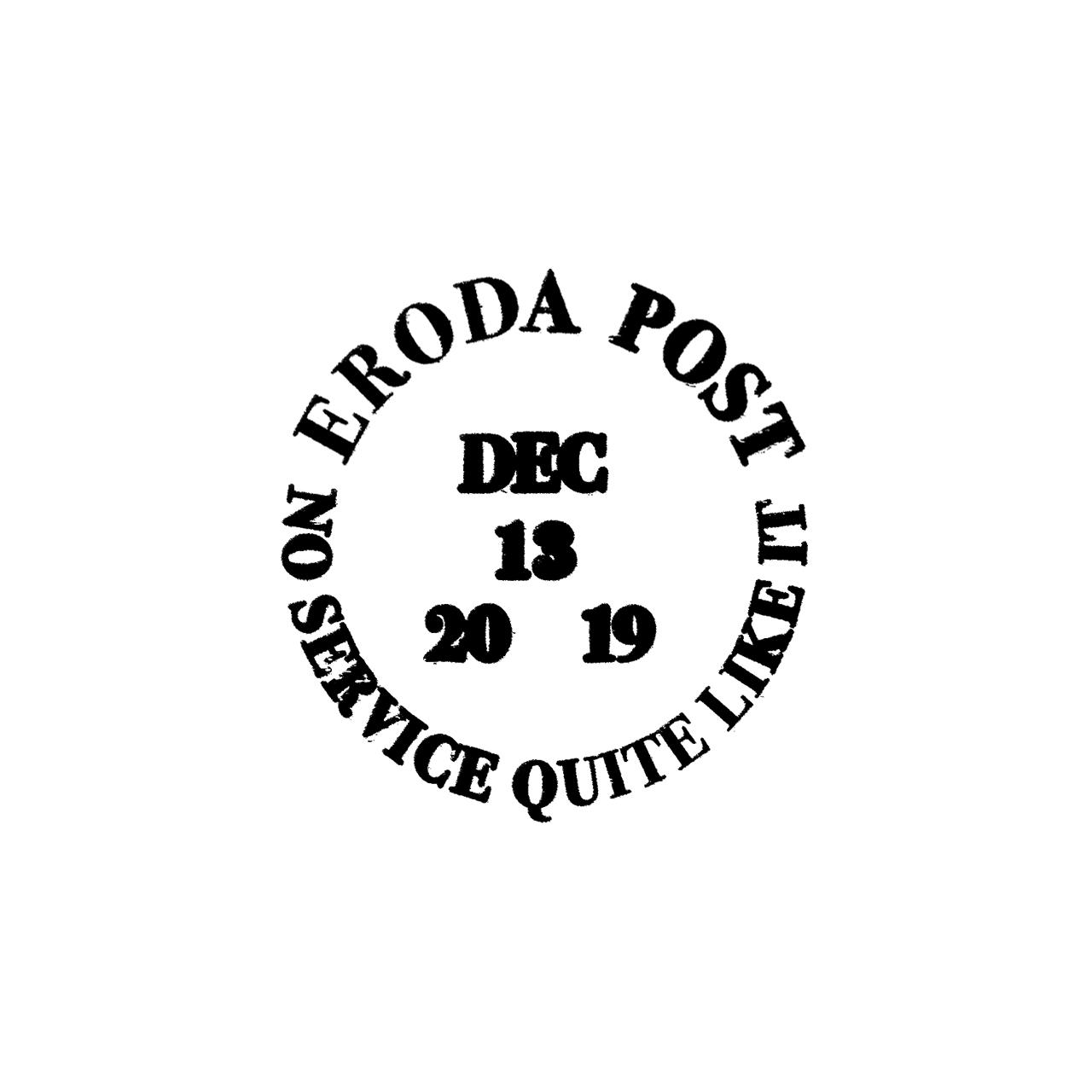 Eroda Post stamp