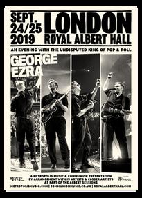 George Ezra - Royal Albert Hall poster